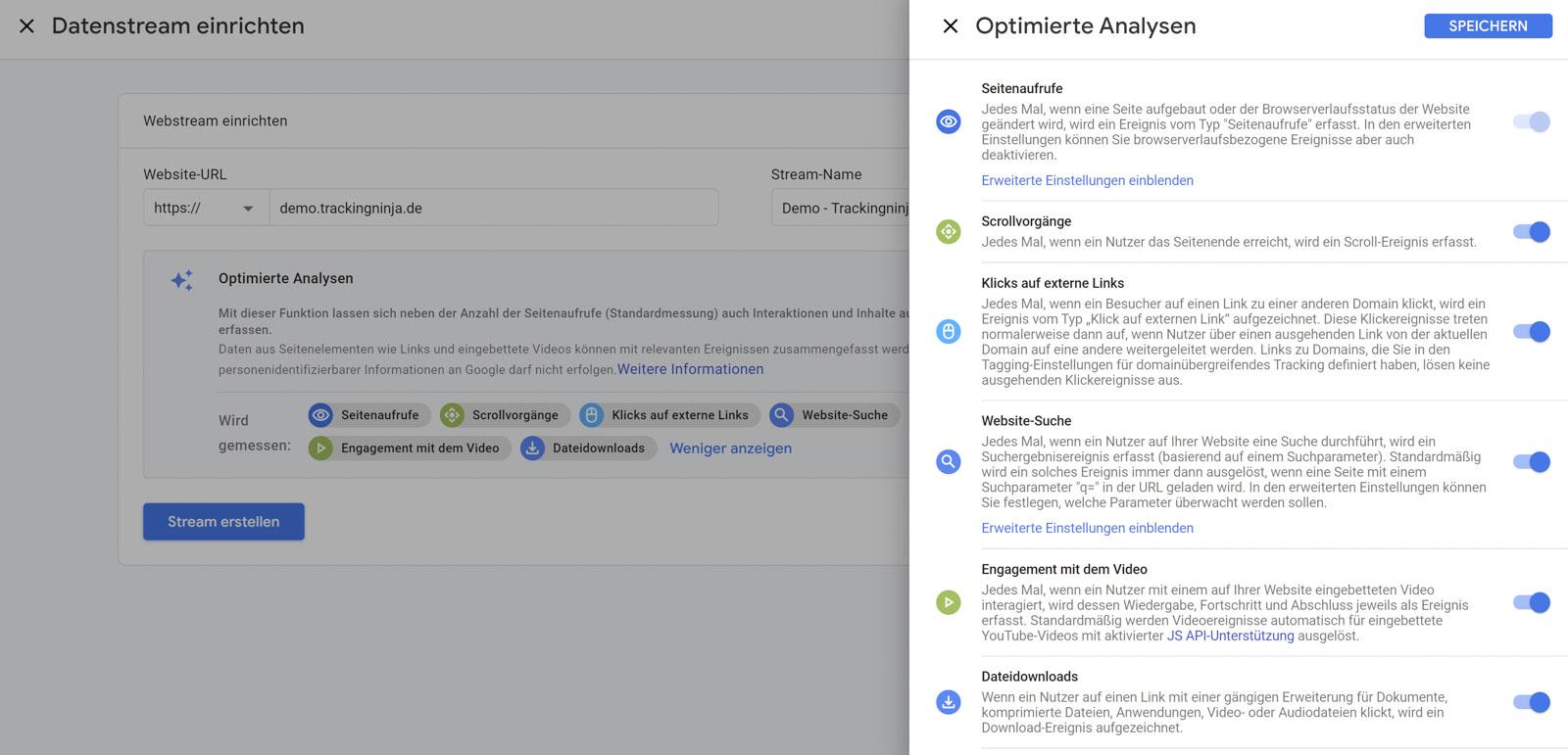 Google Analytics 4 - Optimierte Analysen