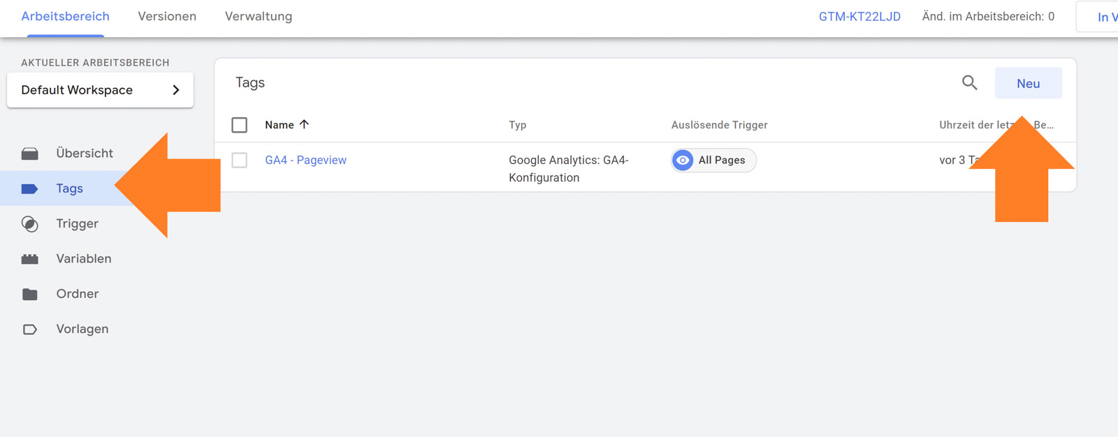Goggle Analytics 4 - Tag Manager Tag